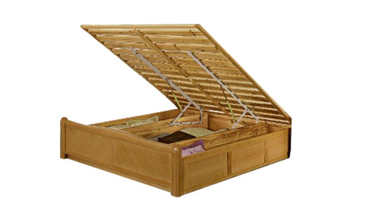 新欧海榉木实木床lb62批发价格