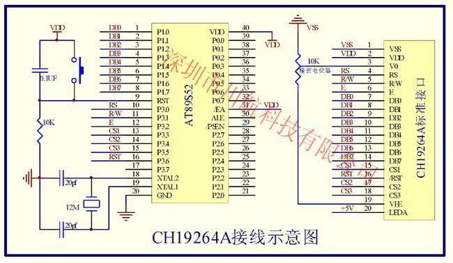 五:19264液晶模块接线图