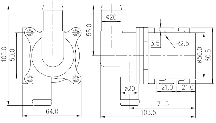 电位器调速接线方法:(非调速水泵没有引出调速信号线) 调速接口中的红线为正5V,黄色线为调速信号线,黑线为地线,红色和黑色线分别接电位器的两端,黄线接电位器的中间,这样旋动电位器可使黄线的电压在0-5V之间滑动,从而采用电位器实现了0 -5V 之间的调速。切勿将红线和黑线碰到一起,这样容易导致电路板烧坏,电位器调速和VR(0-5V)调速是一样的,如果采用VR调速则只需要将电位器取下,按照VR调速方法接线即可。 PWM或者模拟信号VR(0-5V)调速的接线方法: PWM(50-800HZ信号幅值为5v)或者