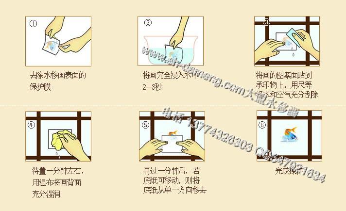 大盟家具水移画 欧美乡村手绘 彩绘图案水转印贴纸 家具装饰材料
