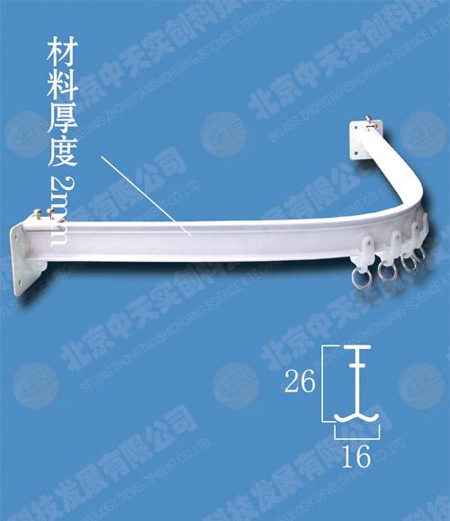 供应卫生间浴帘轨cy-05型,淋浴室浴帘轨,白色可弯曲浴帘轨道