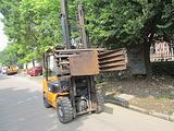 二手夹抱机、软包夹、柴油叉车、上海地区二手叉车转让、现场、现货
