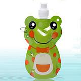 藏乐新款卡通运动水壶 户外用品儿童水壶 环保登山创意水袋批发