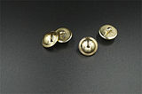 钮扣专卖 塑料金色半圆蘑菇纽扣 光头扣 大衣扣