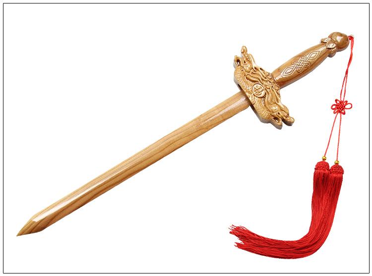 桃木剑 材质:                桃木 工艺:                雕刻