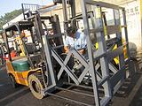 3吨推出器柴油叉车||淮安二手叉车市场、推化肥、推面粉专用叉车