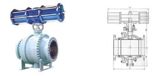 固定式气动球阀结构图