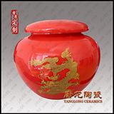 景德镇陶瓷茶叶罐定制厂家,加字