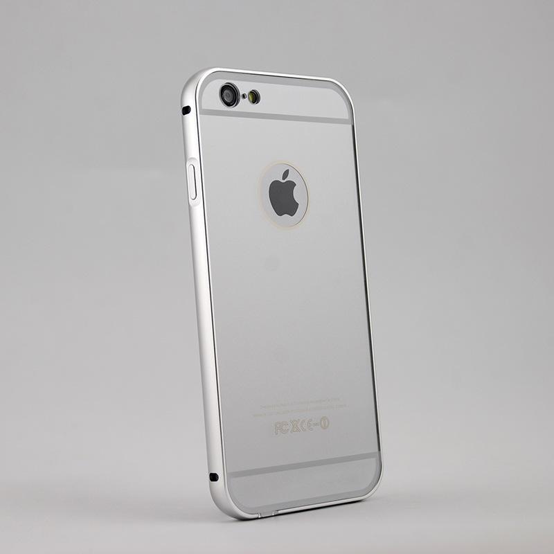 手机外壳价格_iphone6金属边框+pc背盖批发苹果6金属