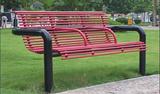 【厂家直销】休闲椅 户外休闲椅 钢制休闲椅 钢木休闲椅