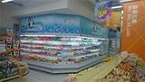 武汉梅花白色水果饮料风幕柜'展示柜