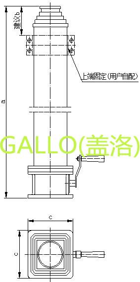 气缸升降控制电路图
