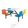 批发玻璃钢餐桌椅组合学校食堂餐桌椅 餐厅餐台 快餐连体餐桌