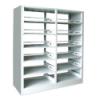 特价钢制双柱双面/单面书架学校图书馆图书室音像资料架