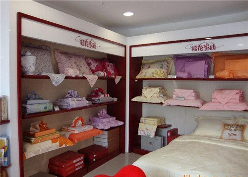 上海家纺展柜设计制作 家纺店设计装修 床上用品展柜制作