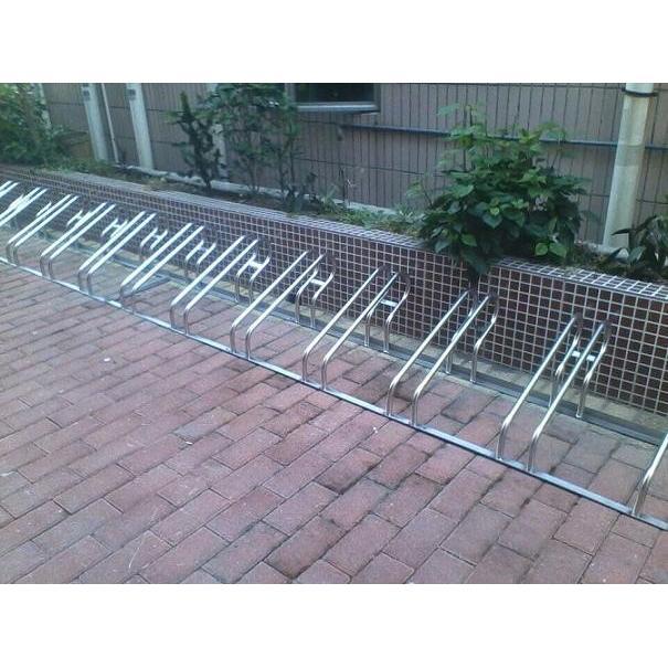 名称:304不锈钢卡位式自行车停车架 二,自行车停车架产品详细规格:  1图片