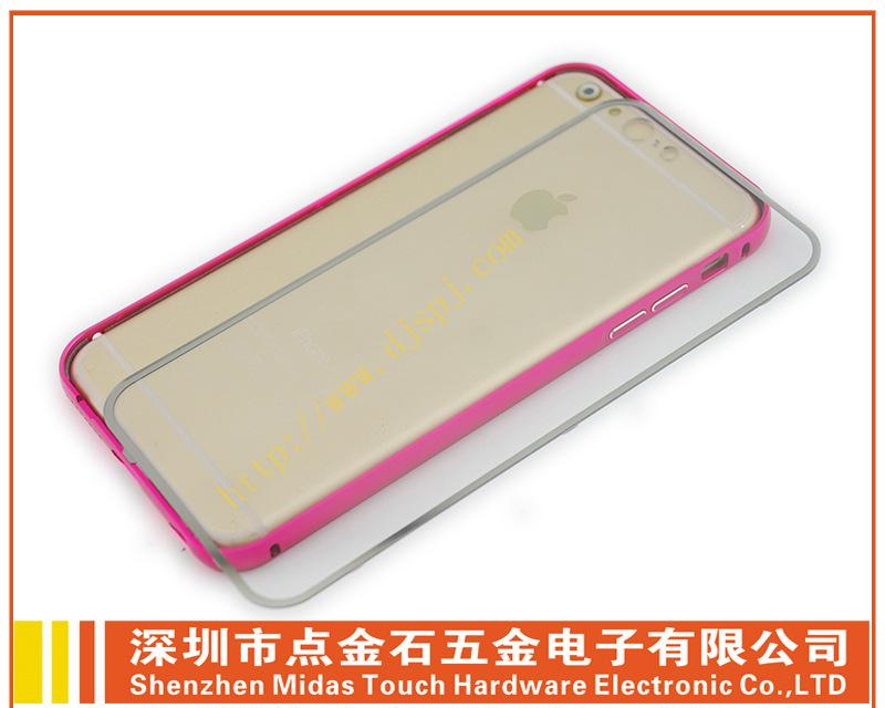 plus单色金属边框+全透明背盖批发手机金属边框厂