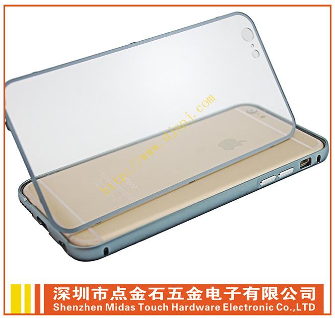 手机外壳价格_苹果6 plus单色金属边框+全透明背盖厂