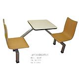 上海艺佳厂价供应玻璃钢组合餐桌椅食堂快餐学生餐连体餐桌椅面馆