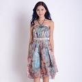 半身长裙雪纺裙碎花超大摆百褶裙 夏季新款女装