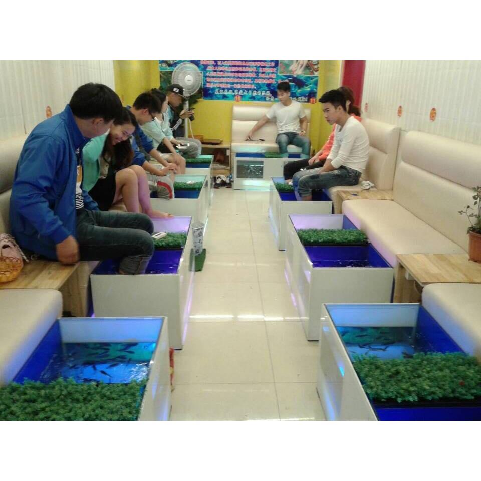 鱼缸制作鱼疗馆加盟安装亲亲鱼足疗鱼缸亲亲鱼缸定做批发价格 郑州高清图片