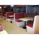 供应餐厅家具ZS-D234餐厅卡座沙发定做尺寸