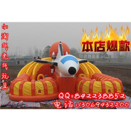 新款13*20航天飞机充气滑梯城堡儿童大型充气蹦床