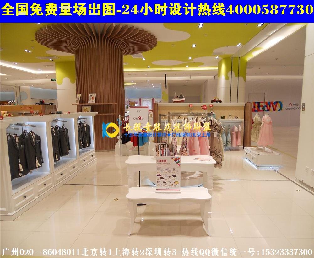 芜湖韩国童装店装修效果图|孕婴店装修效果图展示柜