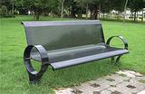 钢制靠背休闲椅 钢木靠背休闲椅 公园椅 石木休闲椅 棋盘桌椅