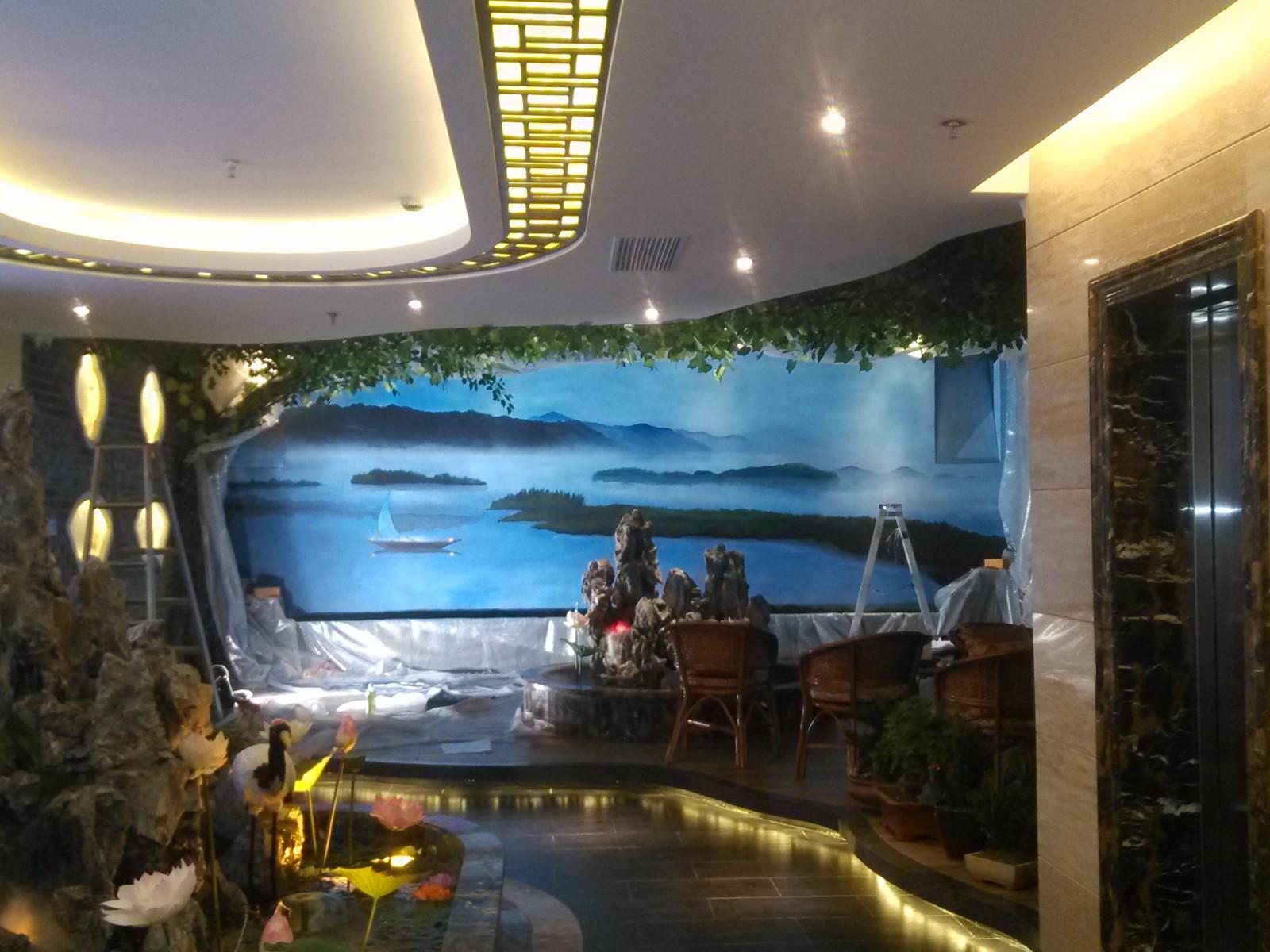 上海墙绘工作室 手绘墙 墙体彩绘 公司