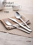 【18-10不锈钢】磨砂工艺Y88系列 拉丝耐磨西餐刀叉餐具