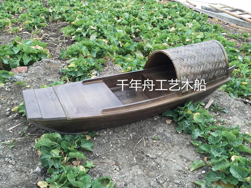 纯手工乌篷船,木船模型