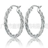 厂家加工定制  自然简约手工制作925银耳环