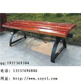【厂家直销】户外钢木休闲椅 铸铝脚休闲椅  无靠背休闲椅