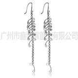厂家大量生产首饰 时尚简约韩国风925银耳环