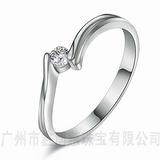 银饰加工 925银结婚戒指 服装珠宝定制 锆石戒指