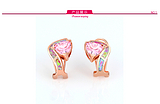 高档潮品银饰批发 925银时尚优雅澳宝系列女式耳环 广州货源