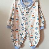 厂家直销新品夏装长袖连身体衣 婴儿服装市场 原单全棉爬哈服批发