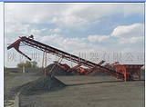 明泰提供兰州矿用移动式自动升降输送机 刮板式皮带输送机