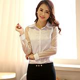 2015夏季新款韩版女衬衫时尚仿真丝拼接欧根纱大码女装纯色打底衫