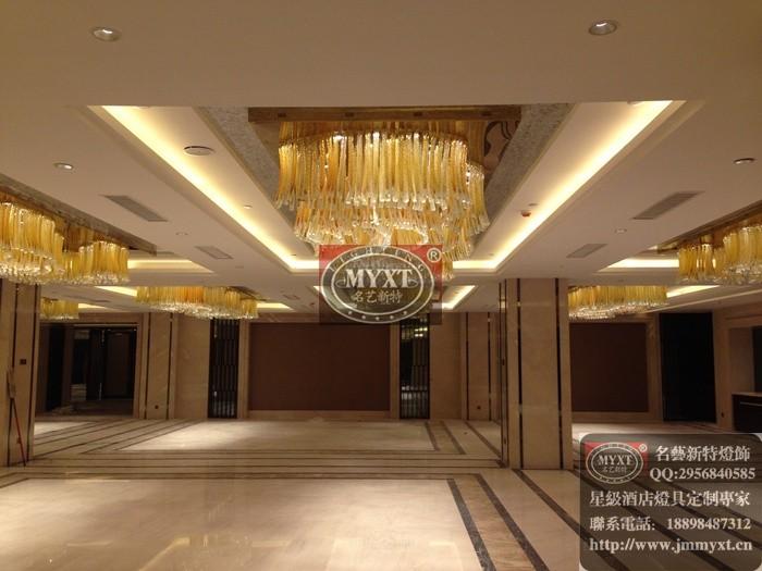 多功能厅工程灯具,星级酒店灯具定制设计安装  完工项目:青岛香格里拉