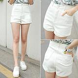 2015夏季新款韩版潮高腰牛仔短裤宽松大码显瘦直筒裤