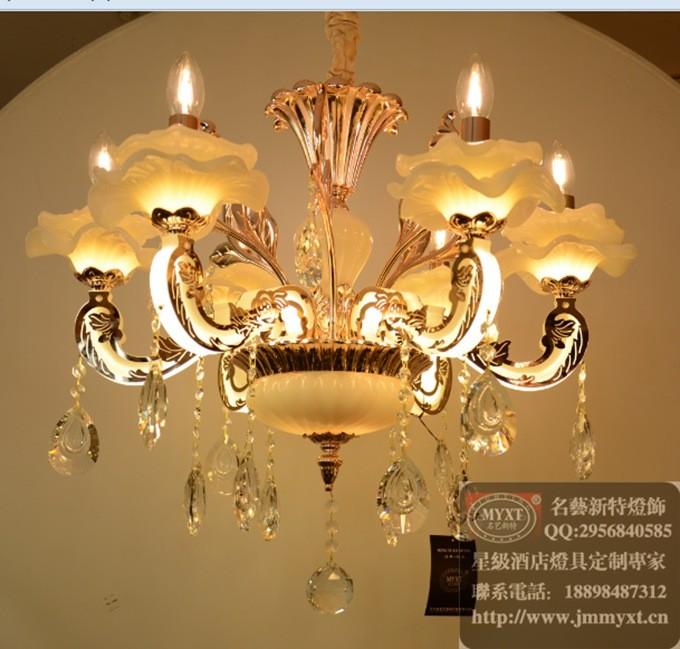 餐厅欧式水晶吊灯,会所简欧水晶灯