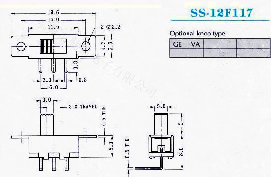 额定负荷:6A 125V/3A 250V AC 接触电阻:50m MAX 绝缘电阻:500MMLN 耐高压 :AC 500V 2mA 1min 焊接温度:260±5°3s 机械寿命:10,000 电器寿命:10,000 适用温度:-25 to 85 适用湿度:85% RH 操作力 :按客户要求 1.影音产品:MP3、MP4、DVD.; 2.数码产品:数码相机、数码摄像机等; 3.