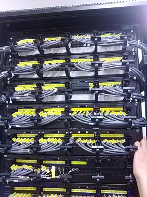 佛山南海顺德机房电话网络线路整理|服务器配线架打线上架标签跳线