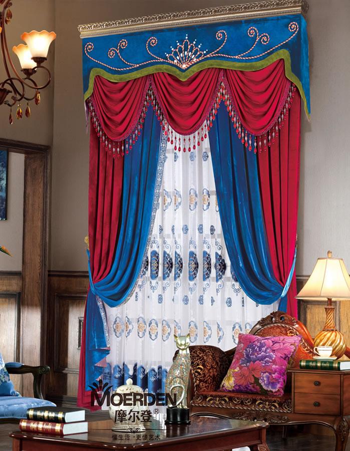 窗帘价格_卧室窗帘遮光隔音 高档欧式飘窗窗帘定做