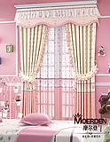 卧室窗帘遮光隔音 高档欧式飘窗窗帘定做