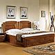 展华家居 中式1.8米高箱实木双人床 中式床 实木床 卧室家具