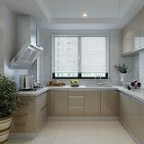 博高整体橱柜定做 整体厨房装修橱柜香格里拉台面 现代简约风格橱柜