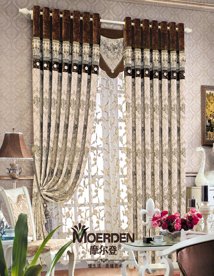 欧式窗帘遮光定做 高档豪华客厅/卧室/别墅窗帘